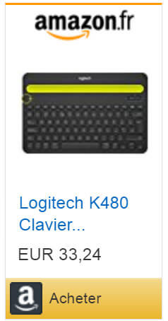 Clavier K480 disponible sur Amazon