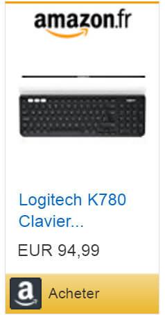 Shopping: clavier K780 en vente sur internet