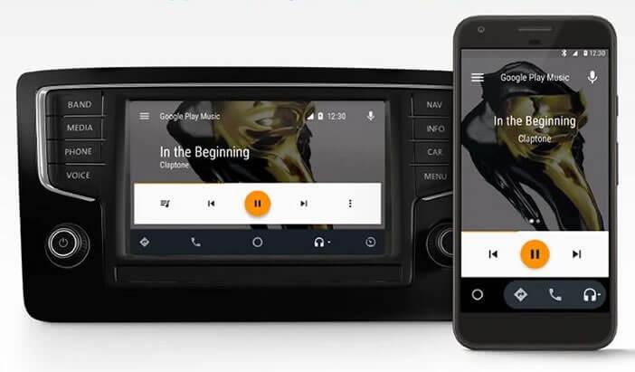 Consulter le manuel pour savoir si votre véhicule est compatible avec Android Auto