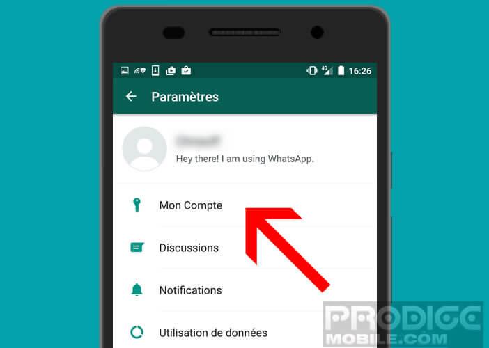 Charger les préférences de votre compte de messagerie mobile