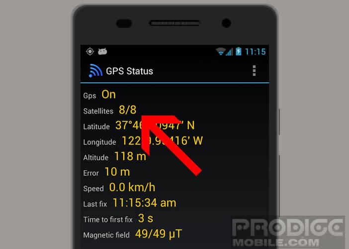 Assurez-vous que la couverture GPS est bonne