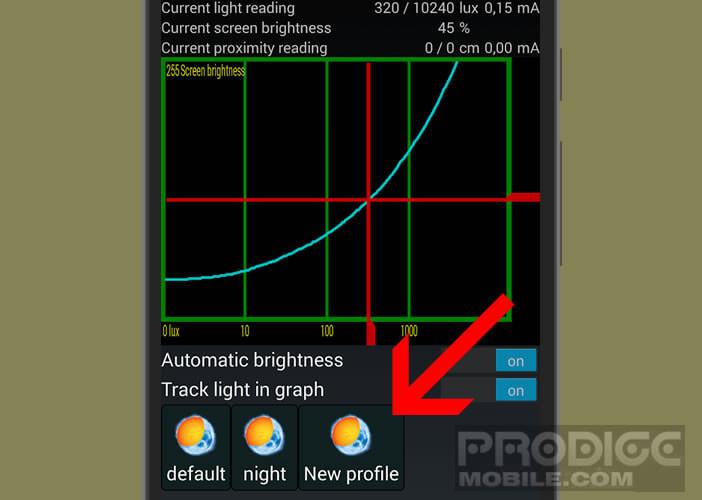 Créer un profil personnalisé pour la gestion de la luminosité d'Android