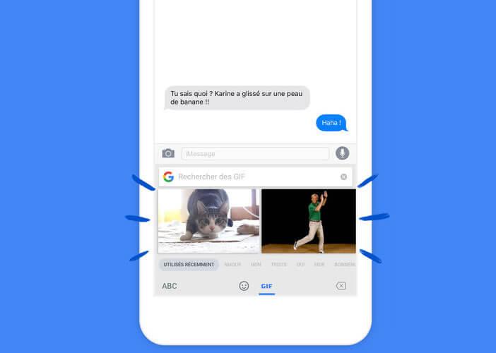 Intégrer des gifs animés à vos messages sans changer d'applis avec Gboard