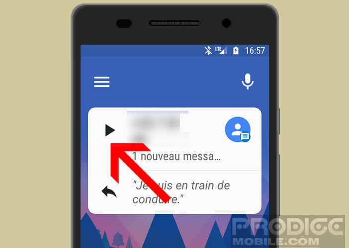 Demander à Android de lire à haute voix vos sms entrants