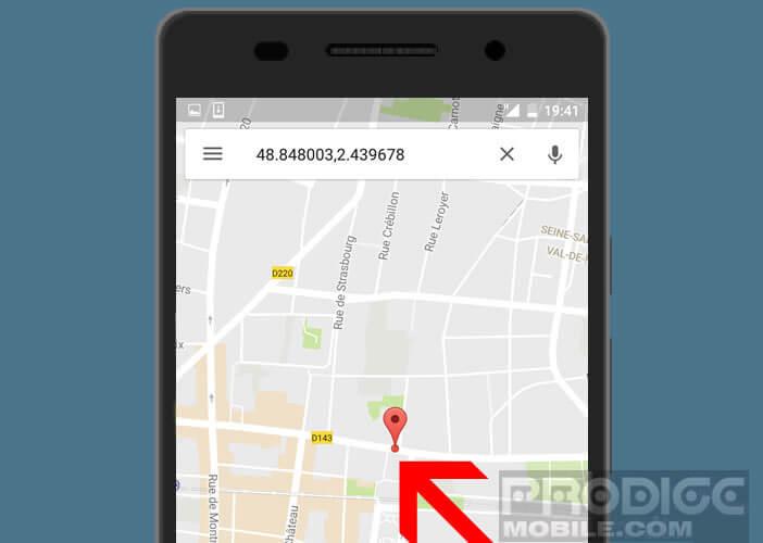 Placer un punaise sur Google Maps