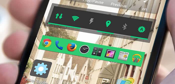 Créer des raccourcis vers les réglages d'Android avec Power Toogles