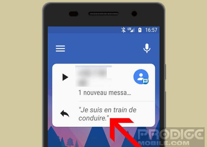 Répondez d'un clic à un SMS grâce à Android Auto