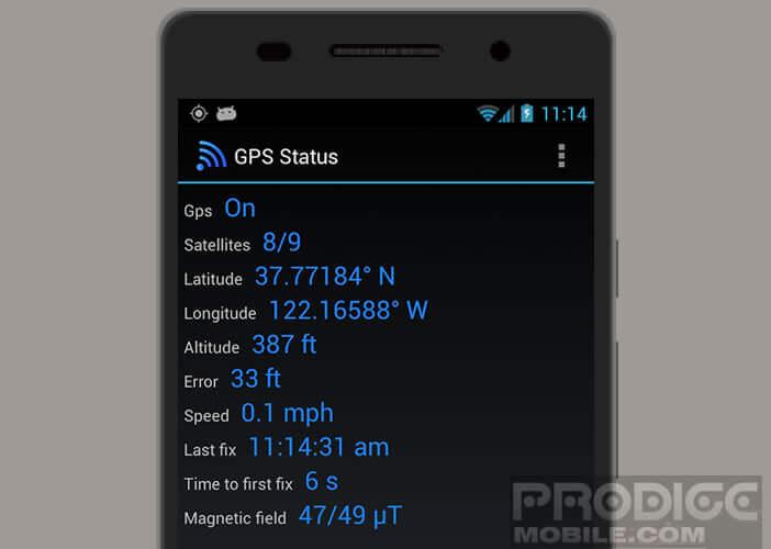 Vérifier le nombre de satellites GPS visibles depuis votre mobile