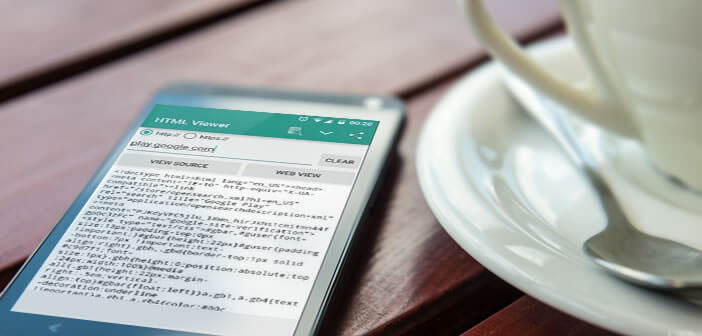 Visionner le code HTML d'une page web depuis un terminal Android