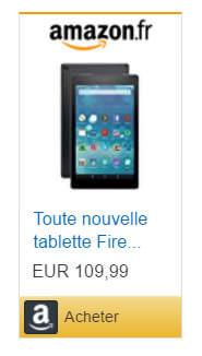 Acheter une tablette Fire sur le site Amazon