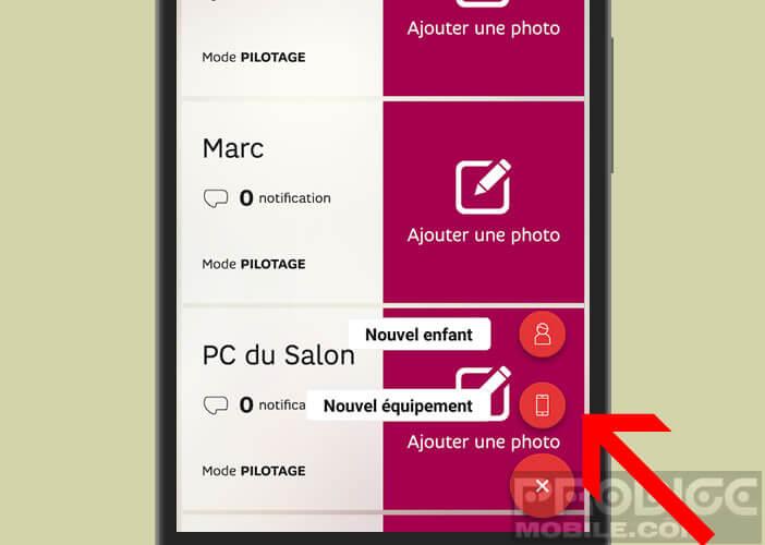 Ajouter un mobile ou une tablette dans l'application SFR Family
