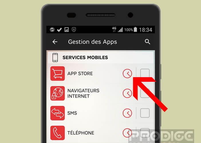 Bloquer l'accès internet à un mobile SFR après une certaine heure