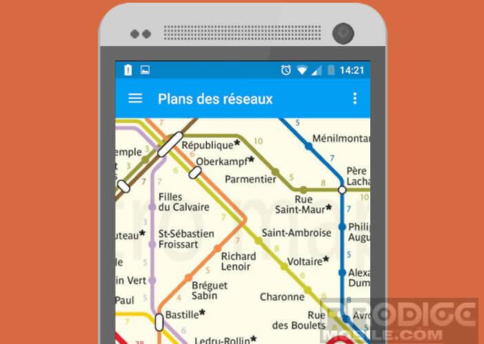 Consulter le plan du réseau Ratp hors ligne