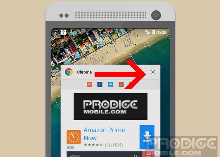 Fermer les applications ouvertes sur Android