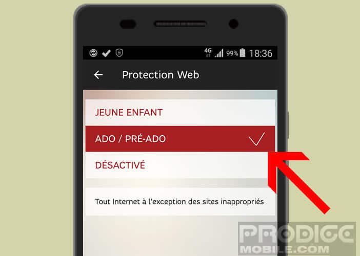 Mettre en place un filtrage web sur les smartphones et les tablettes de vos enfants