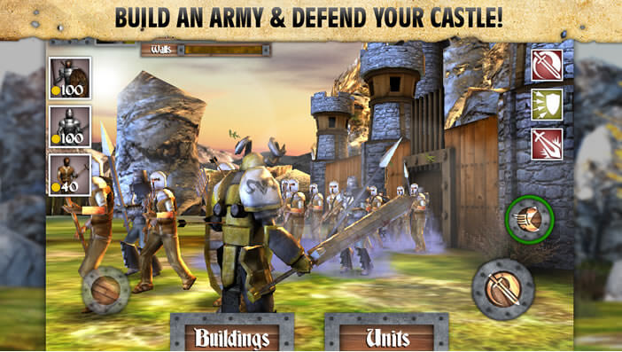 Jeux d'action Heroes and Castle pour mobile Android