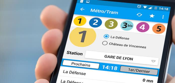 Consulter les horaires des transports en commun parisiens sur l'appli Horaires Me