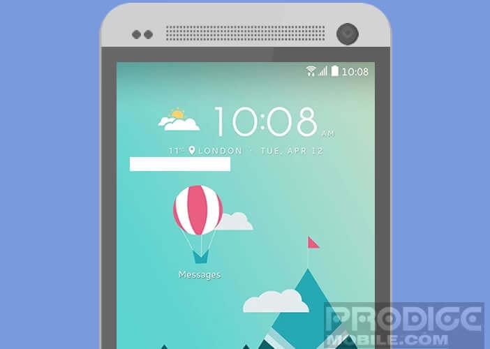 Modifier l'apparence de l'interface d'un smartphone HTC