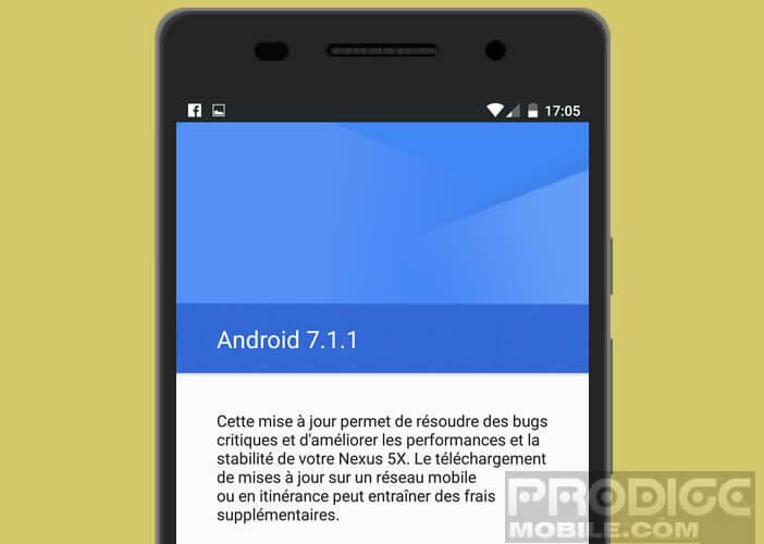 Télécharger les mises à jour Android du fabricant de votre mobile