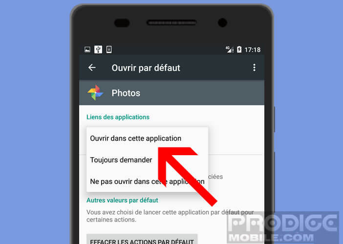 Forcer Android à ouvrir l'application Google Photos par défaut