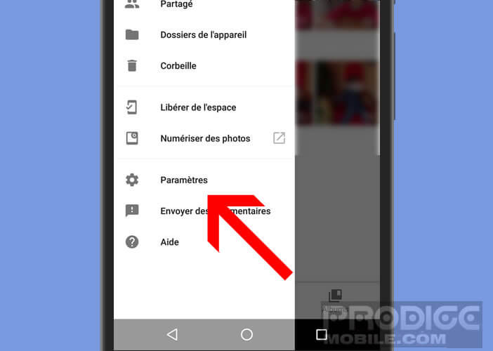 Modifier les paramètres de Google Photos
