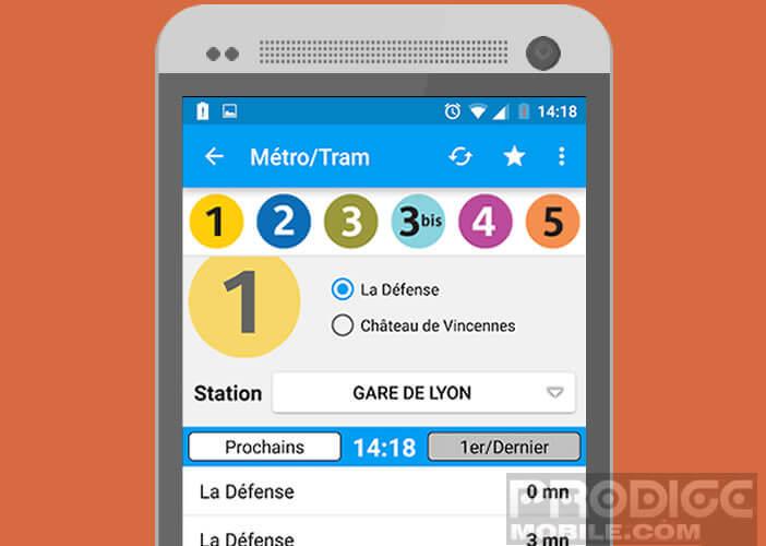 Les horaire de passage des trains, métro et bus de la Ratp