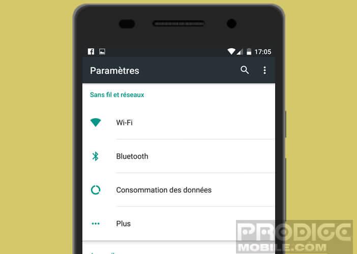 Liste des tâches à effectuer lors des premiers réglages d'Android