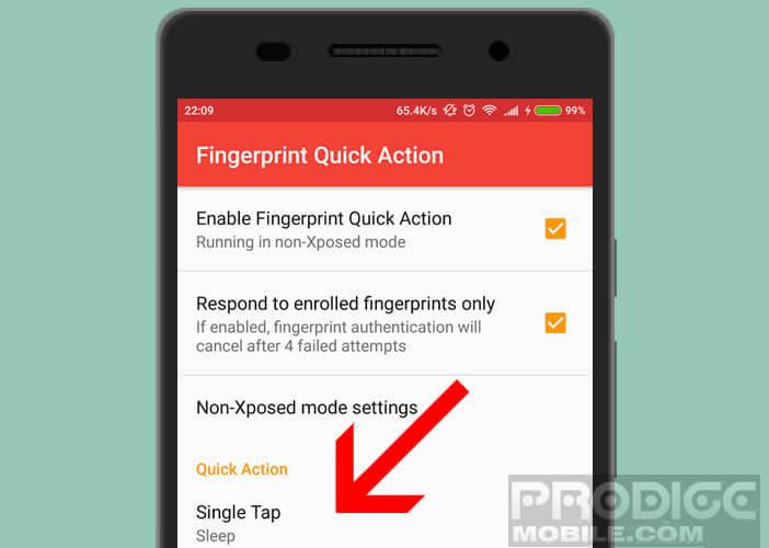Verrouiller smartphone à l'aide d'un lecteur d'empreintes