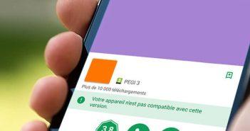Cette application n'est pas compatible avec votre mobile Android