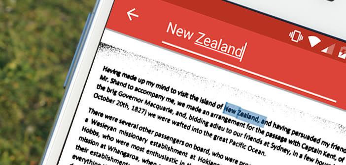 Chercher un mot ou une expression sur un document grâce à votre smartphone