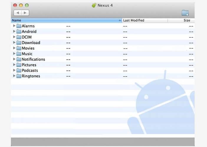 Utilitaire de Google pour activer la connexion Android sur un Mac