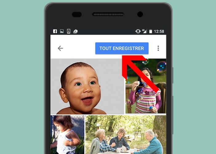 Enregistrer tous les scans dans le cloud de Google Photos