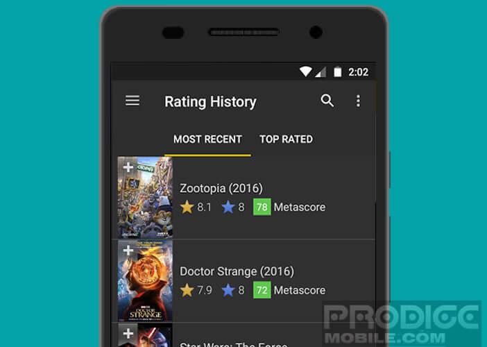L'appli IMDb recense la plus grande base de cinéma