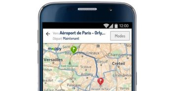 Application de GPS Mappy pour les smartphones Android