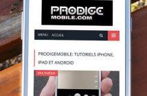 Retourner facilement tout en haut d'une page sur Android