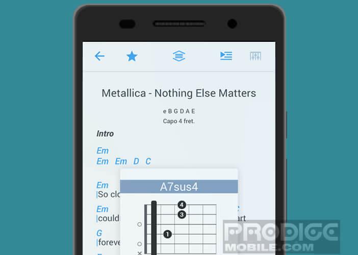 Afficher les tablatures de plus de 500 000 morceaux de musique