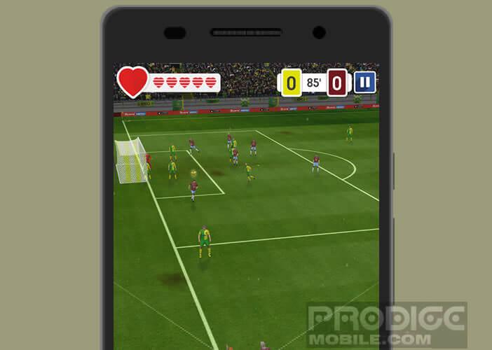 Score Hero propose de réaliser des très belles actions de football
