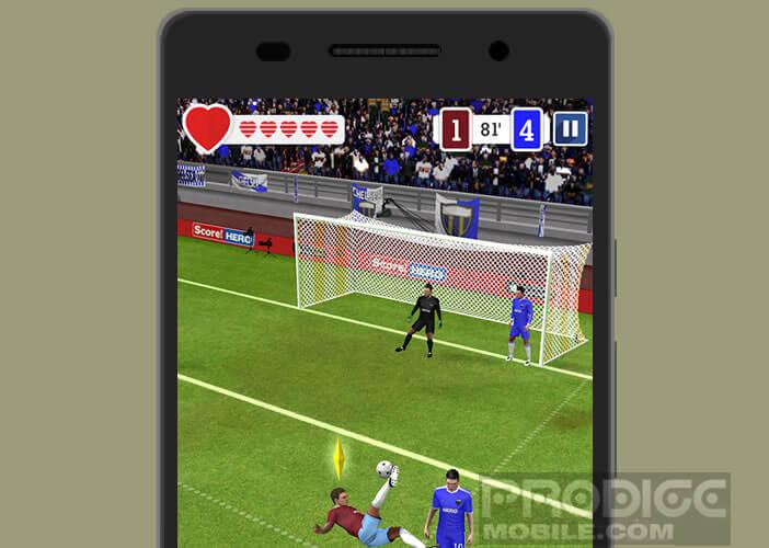 Marquer des buts dans ce jeu de foot pour Android