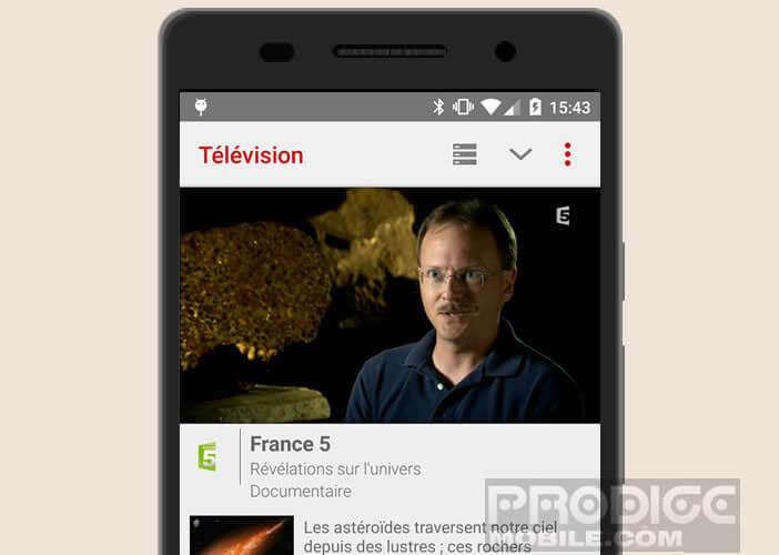 Regarder les programmes télé Free depuis son mobile Android