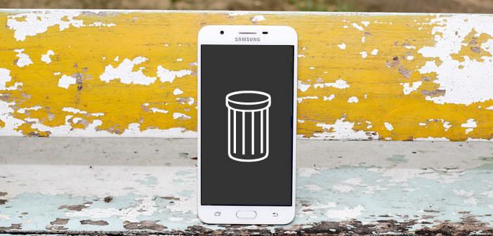 Supprimer des fichiers et vider la corbeille d'un mobile Android
