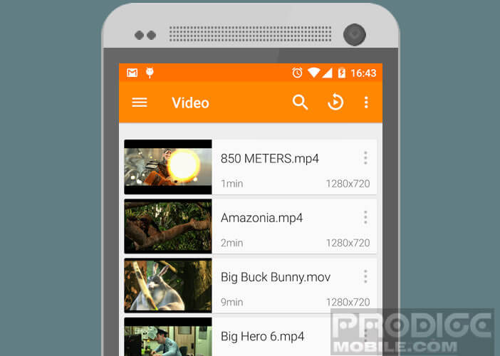 L'application VLC for Android regroupe un nombre important de codec