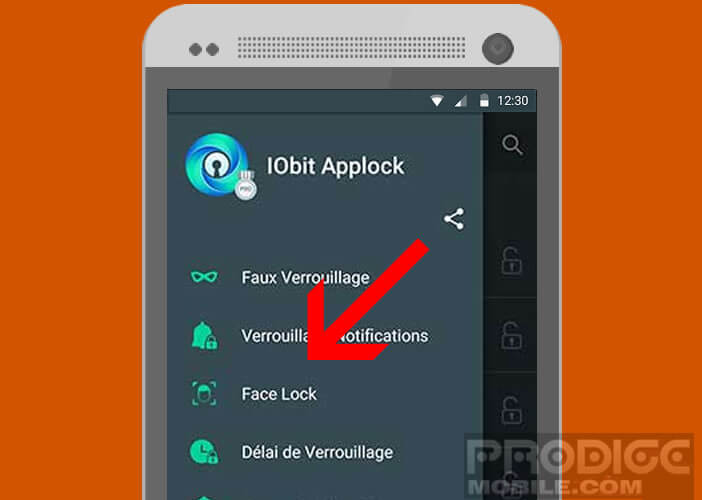 Activer la fonction Face Lock sur Applock