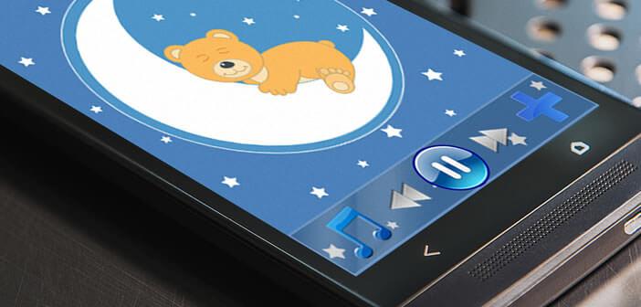 Sélection d'applications pour aider les parents à faire dormir leur bébé