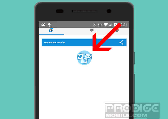 Organiser une présentation vidéo avec l'application ScreenMeet pour Android