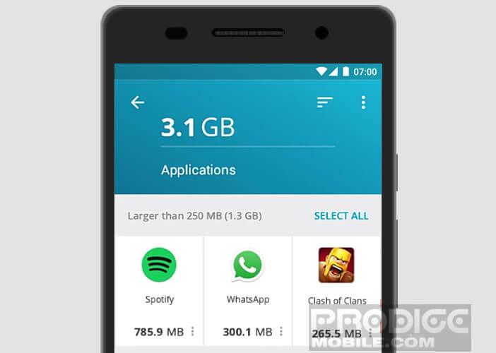 Lancer le nettoyage de vos applications mobiles