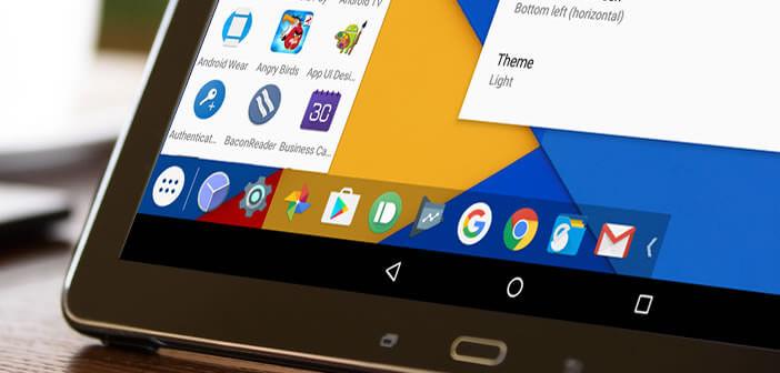 Rajouter un menu démarrer et une barre des tâches à l'interface d'Android