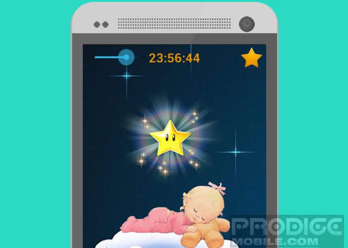 Berceuses pour bébé sur un smartphone Android