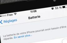 Batterie de l'iPhone: quand faut-il la changer ?