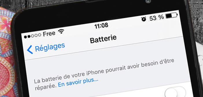 Savoir quand changer la batterie de son iPhone