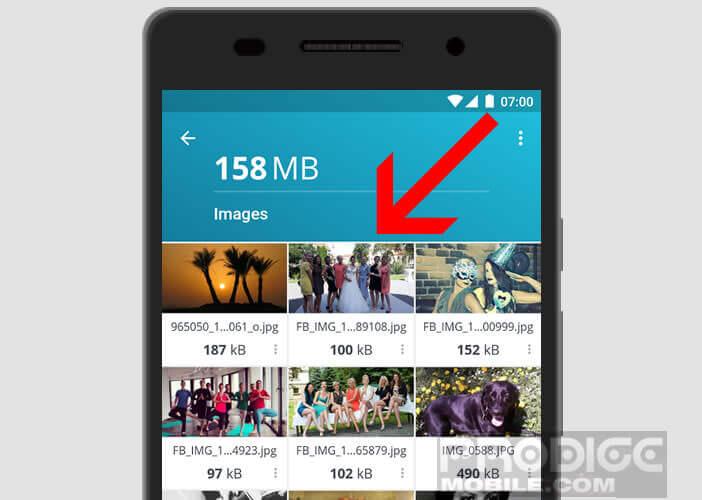 Effacer instantanément les photos et les vidéos stockées dans votre mobile